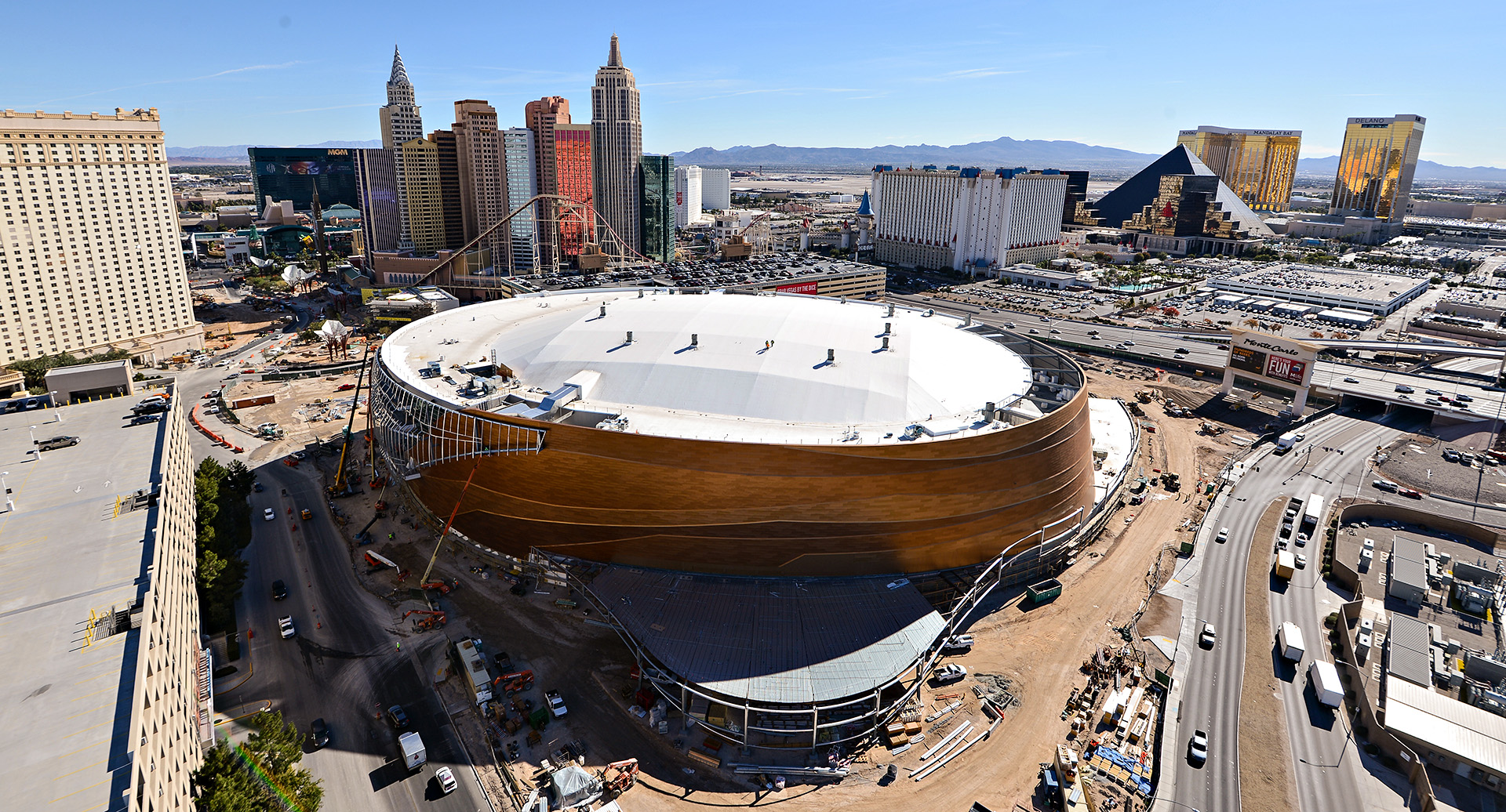 T-Mobile Arena Construction
