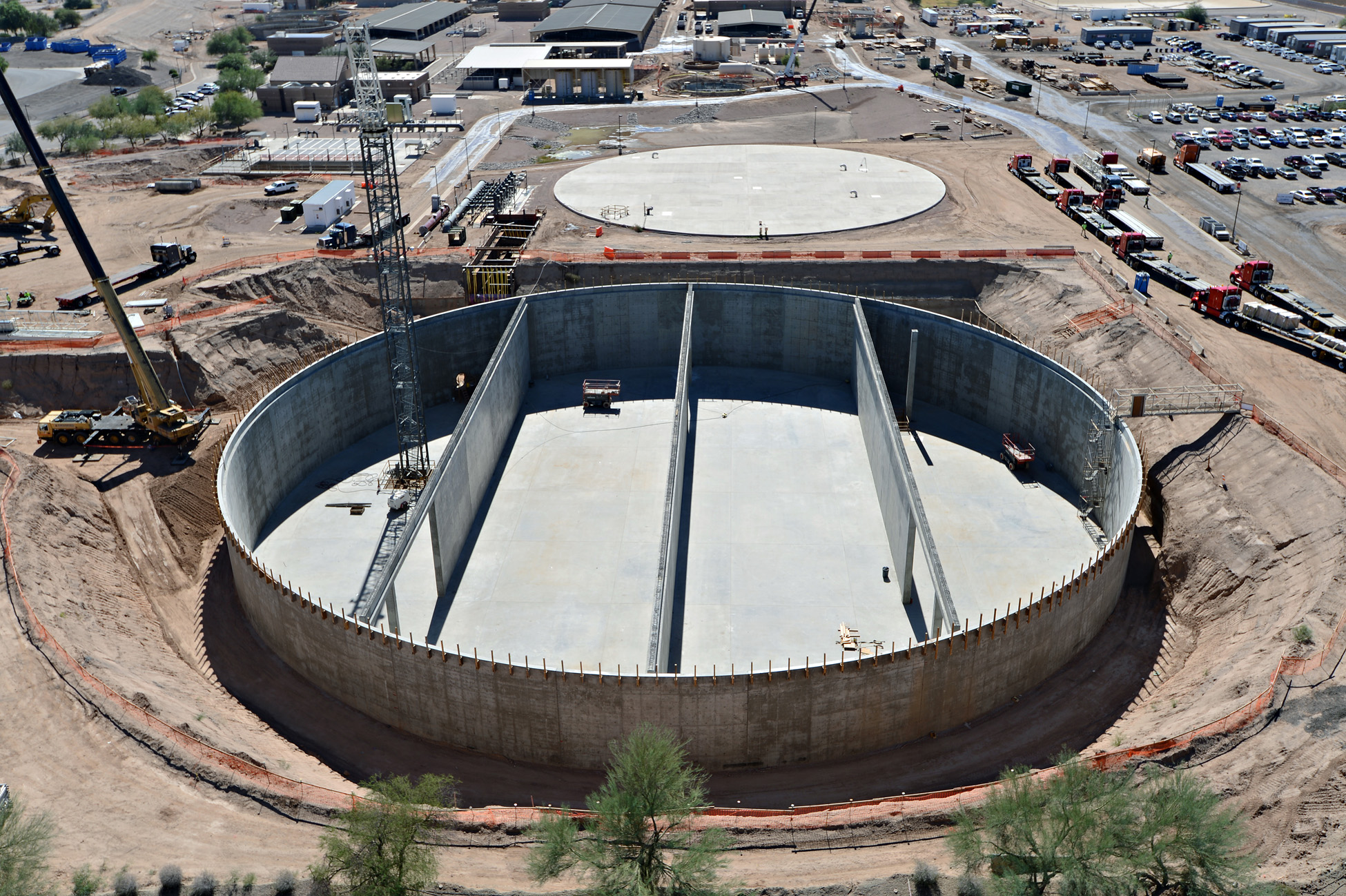 Chandler Airport Water Reclamation Project construction